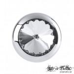Metal Worx Mini Luv plug, buttplugg av stål med juvel på