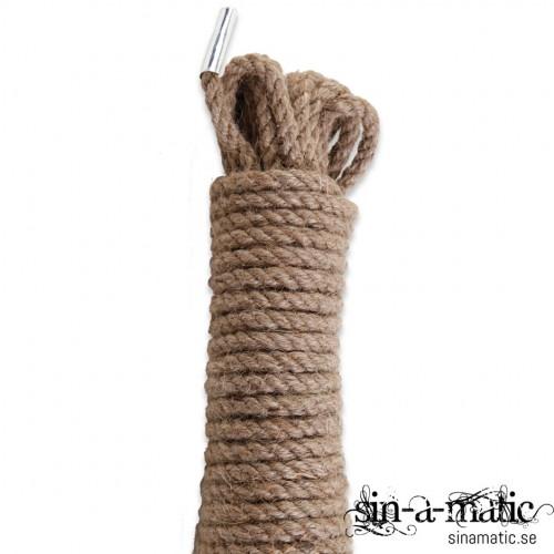 Bondage rep i jute material, med grova fibrer