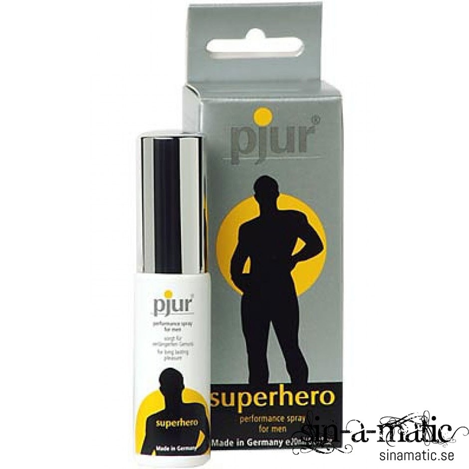Superhero spray , fördröjande spray som ger uthållighet vid eretionsproblem