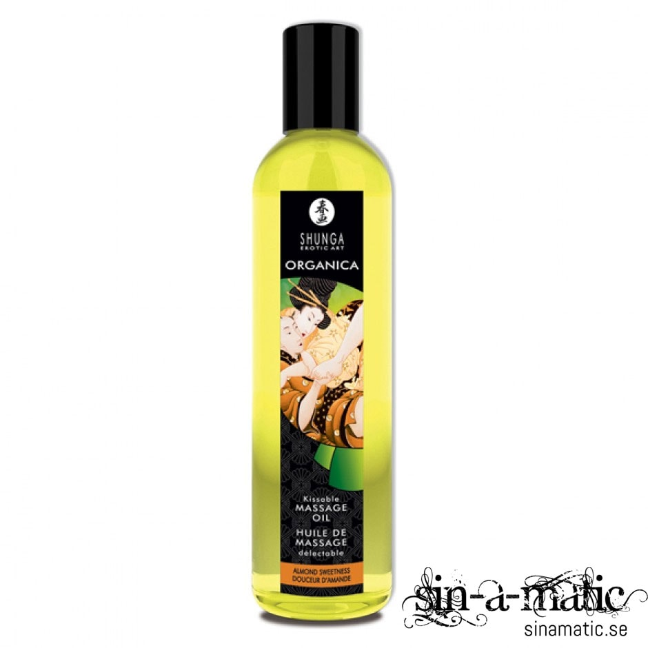 Erotisk massageolja med smak av almond