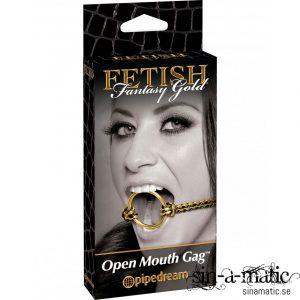 Fetish Fantasy, Gold open mouth gag är en gag för både nybörjare & erfarna