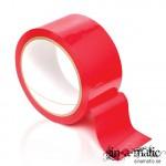 Röd Bondagetape som inte fastnar i hår eller lämnar rester
