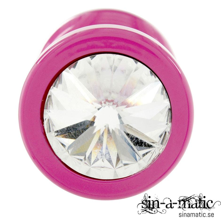 Diogol - rosa buttplug i stål