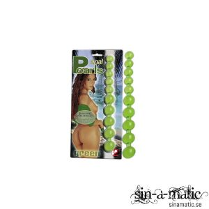 Gröna analkulor i silikon