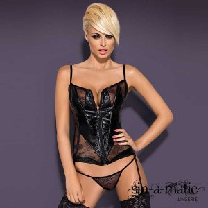 OBSESSIVE CORSET AND THONG HIPNOTICA WETLOOK