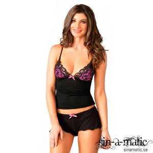 LEG AVENUE SERAPHINA SET BLACK