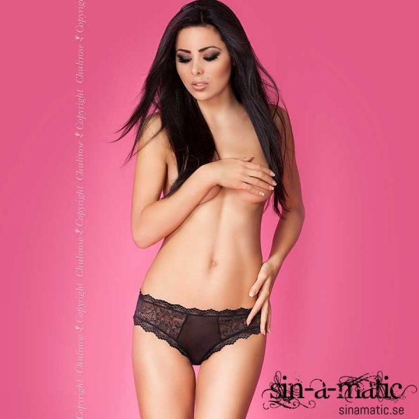 Chili Rose Sheer Black Panties