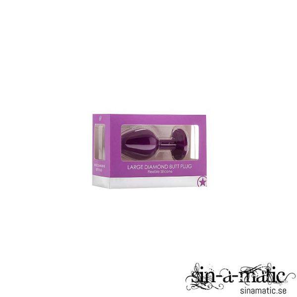 Large Diamond Butt Plug - Purple