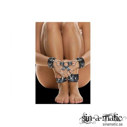 OUCH! Leather HAND AND LEG CUFFS   Sexleksaker för Bondage på Sinamatic.se
