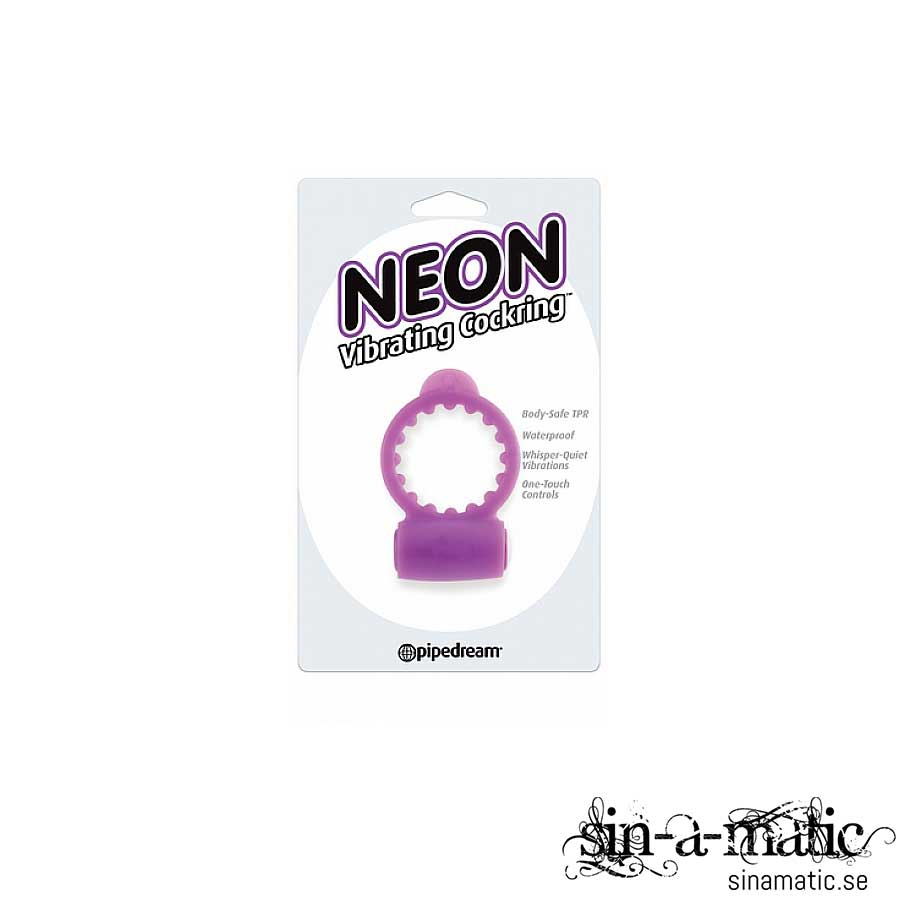 Neon Luv Cock Ring - Purple