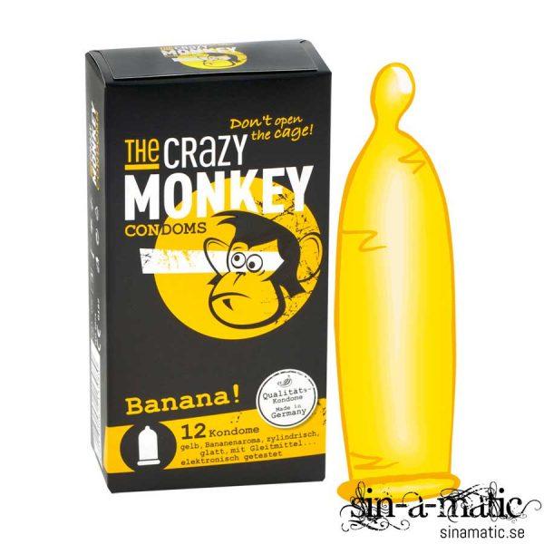 Crazy Monkey, kondom med banansmak