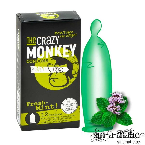 Crazy Monkey, kondom med mint smak
