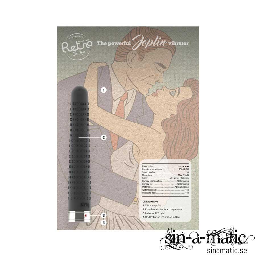 Retro, Joplin - Black | Sexleksaker på sinamatic.se
