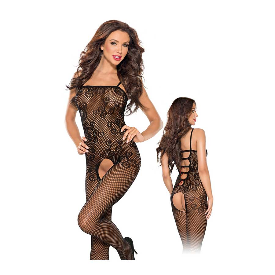 Chequred Flower Bodystocking