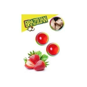 Kissable Lubricant Balls - Strawberry