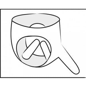 Latex Trosa med 3 dildos, invändig dildo