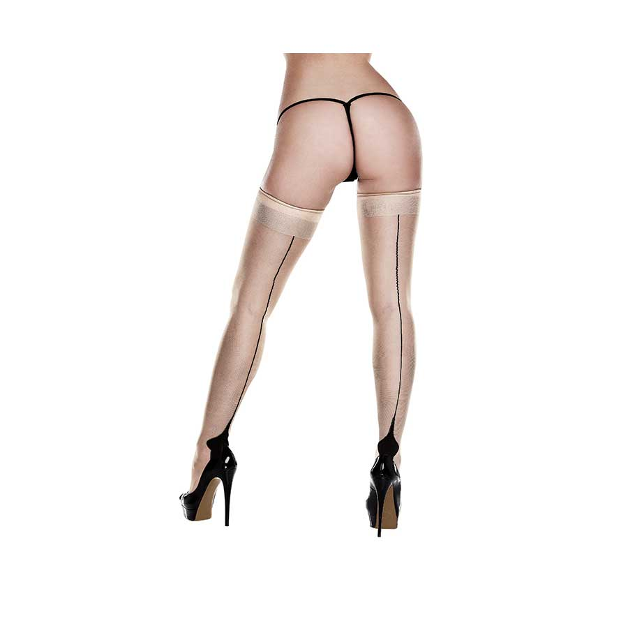 OPAQUE CUBAN HEEL THIGH HIGHS