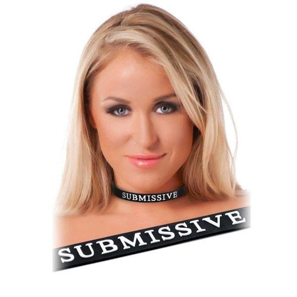 collar submissive koppel för bdsm i gummi