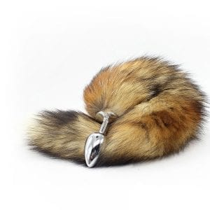 Fox Tail Buttplug Silver
