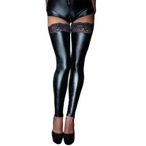 Noir Wetlook Leggings