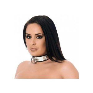 Metal & leather Collar with padlock
